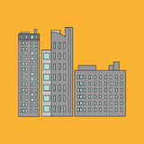 Stadtdesign Gebäudeikone Getrennte Abbildung Stockfoto