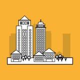 Stadtdesign Gebäudeikone Getrennte Abbildung Lizenzfreies Stockbild