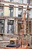 Stadterneuerung in der Stadt Stockbilder