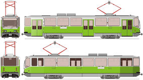 Stadtförderwagen stock abbildung