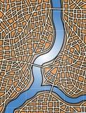 Stadtfluß lizenzfreie abbildung