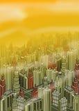 Stadtgebäude stock abbildung