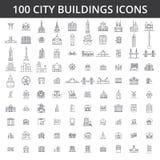Stadtgebäude, Architektur, Immobilien, städtische Schattenbildhäuser, Haus, Dorf, Stadt, Fabrik, Brücke, Skylinelinie lizenzfreie abbildung