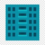 Stadtgebäudeikone, flache Art stock abbildung