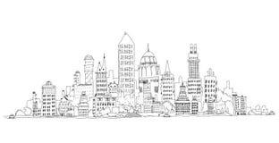 Stadtgeschäftsarie, London, Skizzensammlungsillustration Lizenzfreie Stockbilder