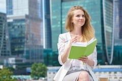 Stadtgeschäftsfraufunktion Lizenzfreies Stockbild