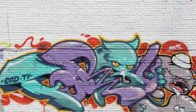 Stadtgraffiti Stockbild