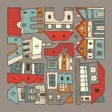 Stadthäuser vektor abbildung