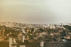Stadthäuser Stockbild