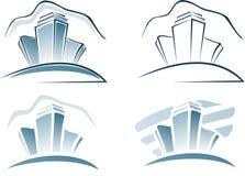 Stadthäuser lizenzfreie abbildung