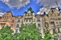 Stadthäuser Prag HDR Stock Fotografie