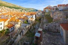 Stadthafen in Dubrovnik kroatien lizenzfreie stockbilder