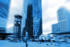 Stadthastige geschäftigkeit stockfoto