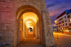 Stadthaus Nordhausen archs σε Harz Γερμανία Στοκ Εικόνα