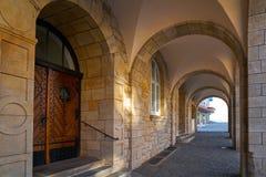 Stadthaus Nordhausen archs σε Harz Γερμανία Στοκ εικόνες με δικαίωμα ελεύθερης χρήσης