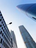 Stadthimmel wenn Sie oben schauend Stockfoto