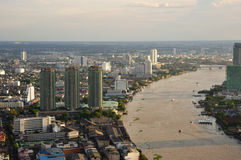 Stadthimmelansicht Thailand-Bangkok Stockfotos