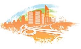 Stadthintergrund vektor abbildung