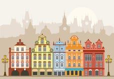 Stadthäuser Stockfoto
