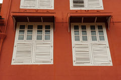 Stadthuys (голландский здание муниципалитет) в Melaka Стоковая Фотография