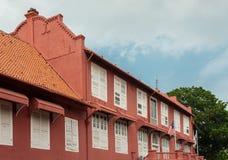 Stadthuys (荷兰语市政厅)在Melaka 图库摄影