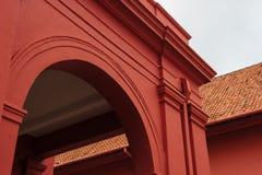 Stadthuys (荷兰语市政厅)在Melaka 免版税库存照片