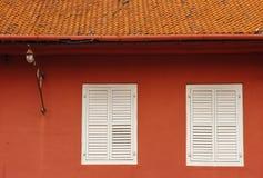 Stadthuys (holländskt stadshus) i Melaka arkivfoton