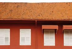 Stadthuys (holländskt stadshus) i Melaka arkivbild