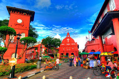 The Stadthuys. (an old Dutch spelling, meaning city hall), also known as the Red Square, is a historical structure situated in the heart of Malacca Town, the Royalty Free Stock Photos