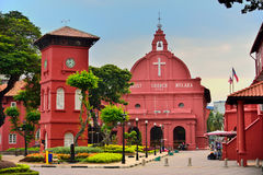 The Stadthuys. (an old Dutch spelling, meaning city hall), also known as the Red Square, is a historical structure situated in the heart of Malacca Town, the Royalty Free Stock Photography