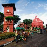 The Stadthuys. (an old Dutch spelling, meaning city hall) is a historical structure situated in the heart of Malacca City, the administrative capital of the Stock Photos