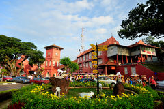 The Stadthuys. An old Dutch spelling, meaning city hall is a historical structure situated in the heart of Malacca City, the administrative capital of the state Royalty Free Stock Images