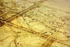 Stadtkarte Lizenzfreie Stockfotografie