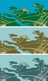 Stadtkarte Stockfoto