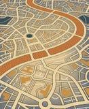 Stadtkarte Stockbild