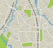 Stadtkarte Lizenzfreie Stockfotos