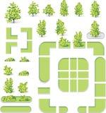 Stadtkarten-Kreationssatz (DIY). Parks und La des Teils 7. Stockfoto