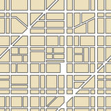 Stadtkartenabstraktion Lizenzfreies Stockbild