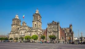 Stadtkathedrale der Annahme von Mary von Mexiko City stockbild