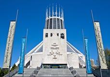 Stadtkathedrale, Liverpool, Großbritannien Stockfotografie