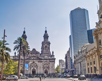 Stadtkathedrale von Santiago stockfoto