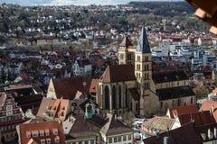 Stadtkirche Esslingen St. Dionys Zdjęcia Stock