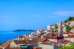 Stadtkraft in Kroatien, adriatische Küste Lizenzfreie Stockfotos
