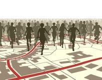Stadtlack-läufer Stockfoto