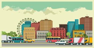 Stadtlandschaft stock abbildung