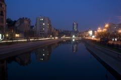 Stadtlandschaft bis zum Nacht Lizenzfreie Stockfotografie