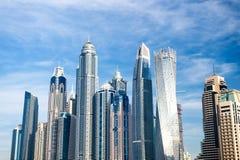 Stadtlandschaft in Dubai, Vereinigte Arabische Emirate Lizenzfreie Stockfotografie