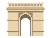 Stadtlandschaft an einem sonnigen Tag paris Frankreich-Symbol Auch im corel abgehobenen Betrag Stock Abbildung