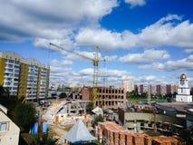 Stadtlandschaft einer sich entwickelnden Stadt Lizenzfreies Stockbild