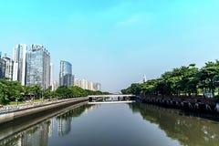 Stadtlandschaft in Guangzhou China lizenzfreie stockfotos